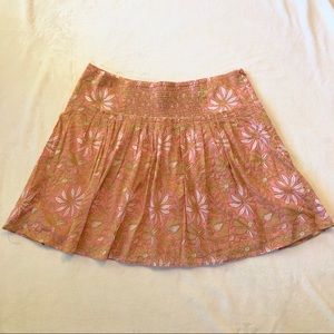 Banana Republic Floral Pleated Skirt Size 12